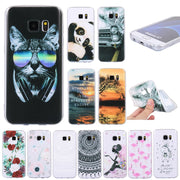Soft TPU Cases For Samsung Galaxy S7 Back Phone Case Cover For Coque Samsung Galaxy S7 Edge Silicone Gel Mandala Landscape Case