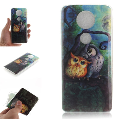 Soft TPU+IMD Cover For Coque Motorola Moto E5 Plus Case Back Cover Sex Girl Lion Tiger Owl Fundas For Moto E5 Plus