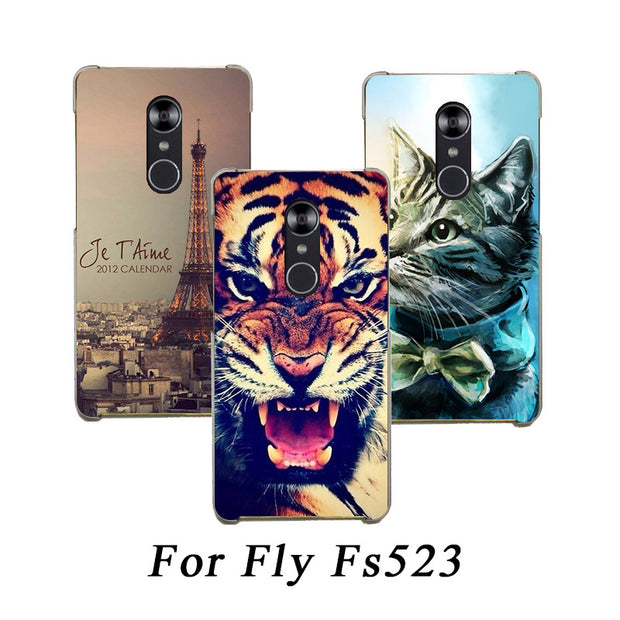 Soft Tpu Phone Case For Fly Cirrus 16 Fs523 Cases Silicone Painted Wolf Rose Cat Fundas Sheer For Fly Fs523 Cirrus 16 Back Cover