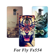 Soft Tpu Phone Case For Fly FS554 Power Plus FHD Cases Silicone Painted Wolf Rose Cat Fundas Sheer For Fly Fs554 Back Cover