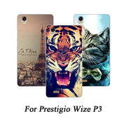 Soft Tpu Phone Case For Prestigio Wize P3 Cases Painted Wolf Cat Rose Fundas Sheer For Prestigio Wize P3 PSP3508 DUO Back Cover