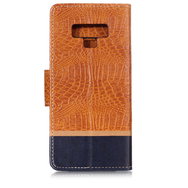 Splice Color Wallet Case For Samsung Galaxy Note 9 Filp Cover Crocodile Pattern PU Leather Mobile Phone Bags Latest Fashion