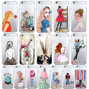 Stylish Girl Travel Leisure Beach Vacation Case For Huawei P8 P10 Plus P8 Lite P9 Soft TPU Cute Pattern Cover For Honor 10 Lite