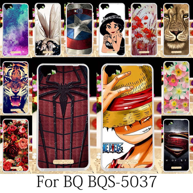 TAOYUNXI Case For BQ 5037 Strike Power Silicone Fitted Patterned BQ 5037 Cover BQS-5037 Cases Anime Girls Coque Fundas 5.0 Inch