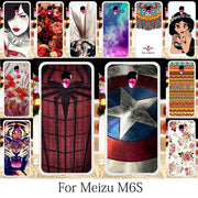 TAOYUNXI Case For Meizu M6s Case Silicone Fitted Patterned For Meizu M6s Mblu Cover Meilan S6 Cute Anime Floral Housing 5.7 Inch