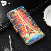 TAOYUNXI Case For ZTE Blade A6 Lite Case Flip Leather Patterned Case For Coque ZTE Blade A0622 Cover Wallet Card Slot Kickstand