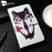 TAOYUNXI Cases For Alcatel 1C Case Flip DIY Painted PU Leather Silicon Cover For Alcatel 1C Covers Magnetic Bag Fundas Capa
