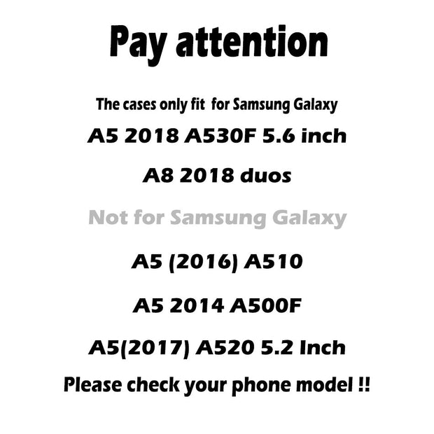TAOYUNXI Cases For Samsung Galaxy A5 2018 Case Silicone Covers For Samsung Galaxy A8 2018 Cases For Covers Samsung A5 2018 Coque