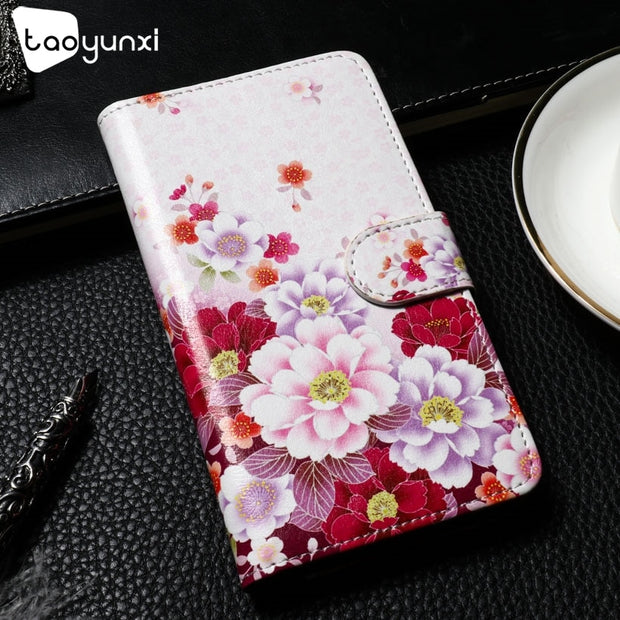 TAOYUNXI Cases For Xiaomi Pocophone F1 Poco F1 Covers 6.18 Inch PU Leather Case Flip Wallet Bags Printed Housings Shell Skin