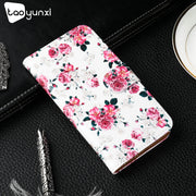 TAOYUNXI Flip Cover For LG X Venture V9 Case Painted TPU PU Leather For LG X CALIBUR H700 5.2 Inch Card Slot Holster Phone Shell