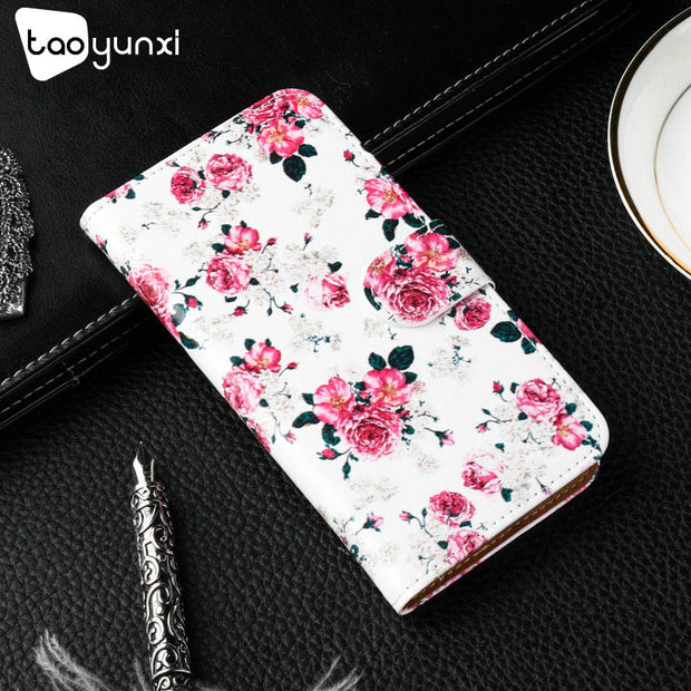 TAOYUNXI Flip Cover For Zenfone 4 Max Plus ZC554KL Case Painted TPU PU Leather Zenfone 4 Max Pro X00ID Card Slot Holster Shell