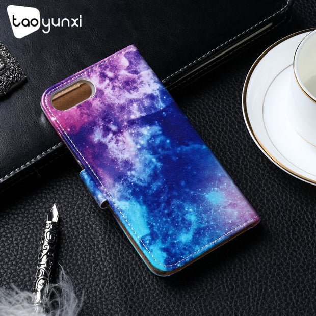 TAOYUNXI Flip Phone Case Cover For Doogee Mix 5.5 Inch Cover Painted TPU PU Leather Case Card Slot Holster Housing Bags