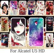 TAOYUNXI For Alcatel U5 HD Case Silicone Patterned Fitted For Etui Alcatel U5 HD Cover Painting Coques Cute Girls Anime 5.0 Inch
