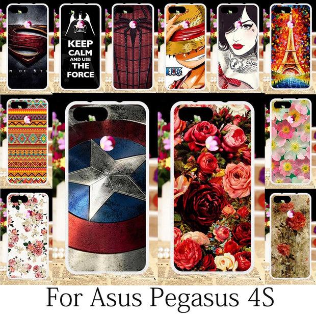 TAOYUNXI For Asus Pegasus 4S Case Silicone Fitted Patterned Cover Asus Pegasus 4S Cases Cute Painting Anime Floral Hood 5.7 Inch