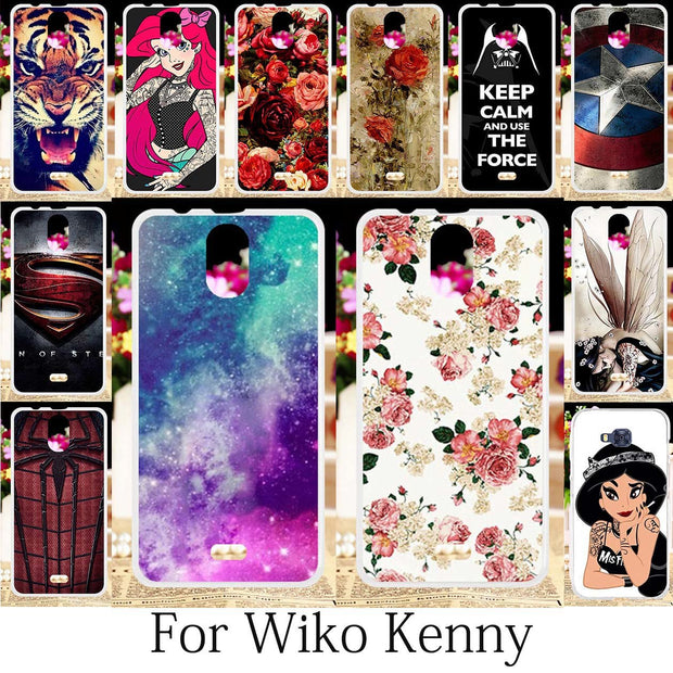 TAOYUNXI For Coque Wiko Kenny Case Silicone Fitted Patterned Cover Wiko Kenny Cases Cute Painting Anime Floral Housings 5.0 Inch