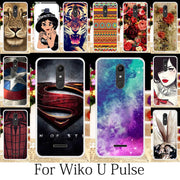 TAOYUNXI For Coque Wiko Upulse Case Silicone Patterned Fitted Cover Wiko U Pulse Cases Cute Anime Floral Phone Housings 5.5 Inch