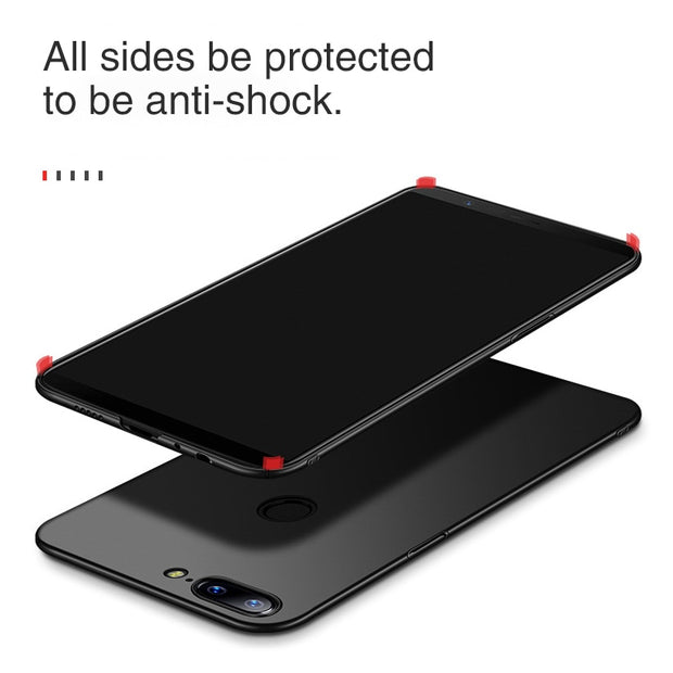 TAOYUNXI For Etui Oneplus 5T Case Fitted For Funda One Plus 5 Cover Oneplus 3 Case Plain Business Phone Housing Shell Black Hood
