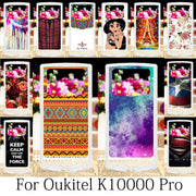 TAOYUNXI For Funda Oukitel K10000 Pro Case Silicone Patterned Fitted Coque Oukitel K10000 Pro Covers Phone Girls Anime 5.5 Inch
