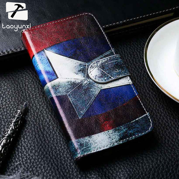 TAOYUNXI PU Leather Case For Huawei P8 Lite 2017 Phone Cover P9 Lite 2017 Honor 8 Nova Lite Flip Wallet With Card Holster