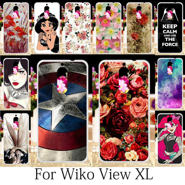 TAOYUNXI Phone Bags For Wiko View XL Case Silicone Wiko View XL Covers Coque Anime Cute Cats Girls Cases Housing Shell 5.99 Inch