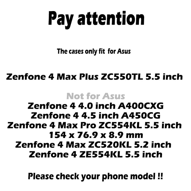 TAOYUNXI Phone Cases For Asus Zenfone 4 Max Plus ZC550TL Case Cover Silicon Coque For ASUS ZC550TL X015D 5.5 Inch
