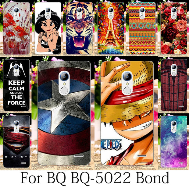 TAOYUNXI Phone Cases For BQ BQ-5022 Bond Case BQS 5022 Cover 5.0 Inch Silicon Soft TPU Phone Bags Coque For BQ 5022 Bond