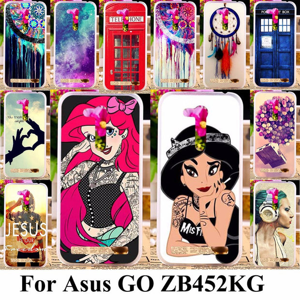 TAOYUNXI Phone Covers Cases For Asus Zenfone ZB450KL GO 2nd Gen ZB452KG X014D 4.5 Inch Cases TPU Bumper Tattooed Girls Cover