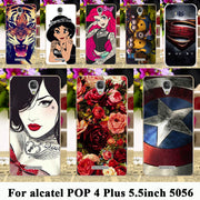TAOYUNXI Silicone Phone Case For Alcatel OneTouch POP 4 Plus Case TPU Shell Pop4 Plus 5056 5056M Fierce 4 OT-5056 5.5 Inch Cover