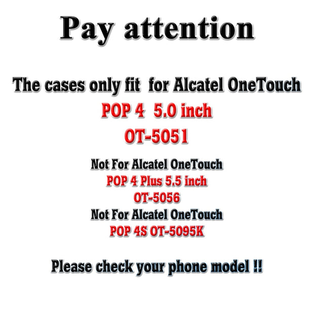 TAOYUNXI Silicone Phone Cover Case For Alcatel OneTouch POP 4 OT-5051 5051 5.0 Inch Case Shell Soft TPU Gel Housing Skin Bag