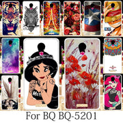 TAOYUNXI Soft Case For BQ 5201 Space Cover BQ Mobile BQS-5201 Covers BQ-5201 Silicone Fitted Patterned Coque Girls Anime 5.2Inch