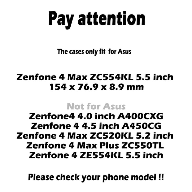 TAOYUNXI Soft TPU Cases For Asus Zenfone 4 Max Pro X00ID Zenfone 4 Max Plus ZC554KL Zenfone4 Max Covers Case Bag Silicon Housing