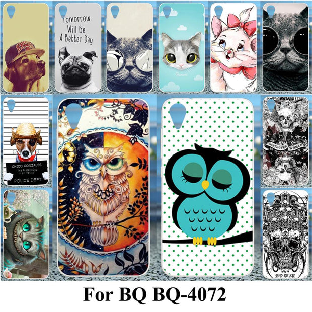TAOYUNXI Soft TPU Cases For BQ-4072 Case For BQ 4072 Strike Mini Cases For BQ-4072 Case Silicone DIV Painted Cover