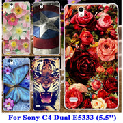 TAOYUNXI Soft TPU Hard Plastic Phone Cover Case For Sony Xperia C4 Dual Cosmos E5333 E5306 E5303 E5353 E5343 E5363 Case Cover