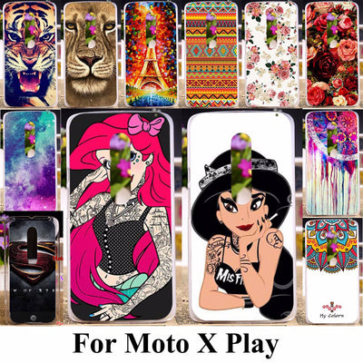 TAOYUNXI Soft TPU Hard Plastic Phone Case For Motorola Moto X Play X3 Lux XT1562 XT1563 XT1561 5.5 Inch Case Animal Sexy Girl