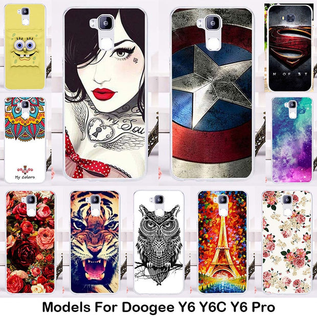 TAOYUNXI Soft TPU Silicone Phone Case For Doogee Y6 Y6C Y6 Pro 5.5 Inch Case Gel Phone Bag Shell Skin Hood Housing Hood