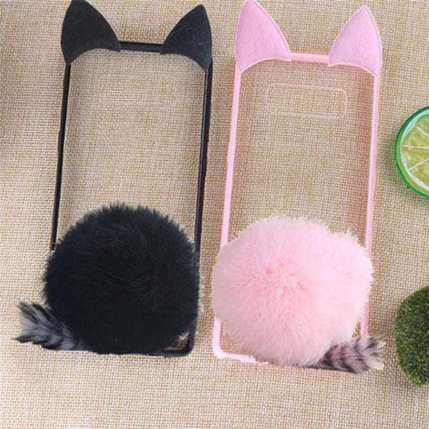 Tenenele Case For Samsung Galaxy Note 8 Case Cute Fur Furry Fur Ball R Emerald Cases