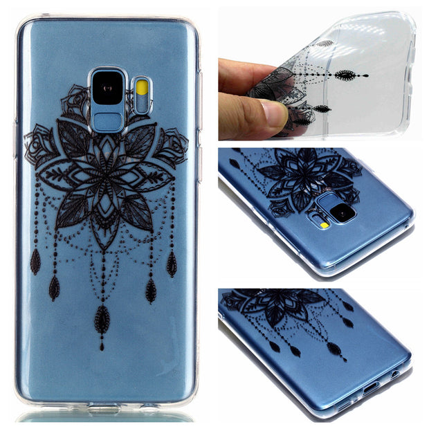 TPU Case For Coque Samsung Galaxy S9 Plus Soft Slim Transparent Painted Cartoon Back Cover Cases For Samsung S9 Plus