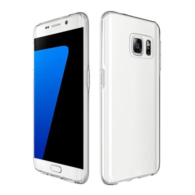 TPU Crystal Clear Cover Full Body Protective Case For Samsung Galaxy S7 Edge Drop Shipping Futural Digital Hot Sell AP21