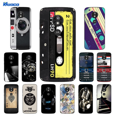 TPU Soft Silicone Coque For Motorola E5 Play Back Phone Cover 5.2 Inch For MOTO E5Play E 5 Play Life Printing Shell