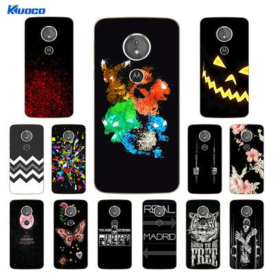 TPU Soft For Motorola E5 Shell 5.7 Inch For Motorola Moto E (5th Gen.) Luxury Silicone Character Printed Back Cover For MOTO E5
