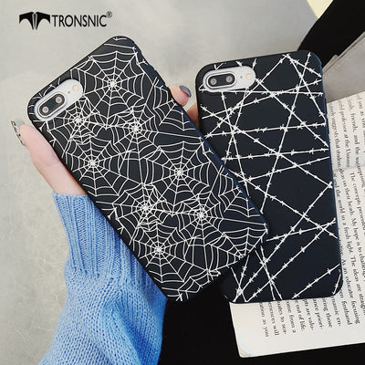 TRONSNIC Spider Web Phone Case For IPhone X XS MAX XR Soft Matte Cobweb Case For IPhone 6S 6 7 8 Plus Cover 3D Cool Capa Fashion