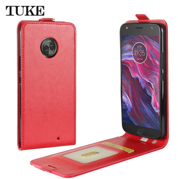 TUKE Case For Motorola Moto X4 Back Cover For Moto X 4 Card Slot PU Leather Case For Moto XT1900 Vintage Business Soft Phone Bag