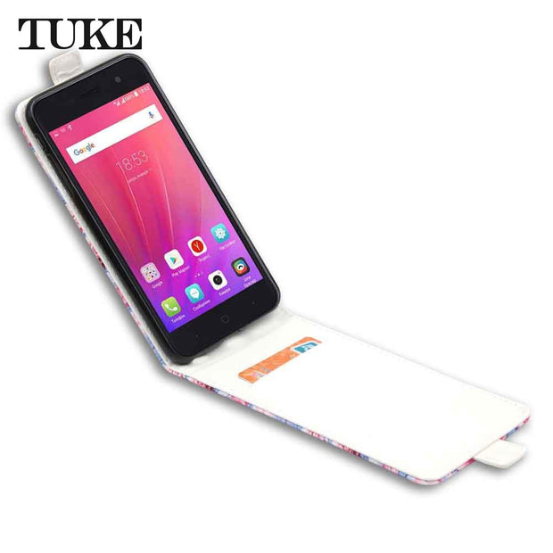 TUKE Funda For ZTE A521 Case Leather For ZTE A520 A521 Back Cover Flip Case For ZTE Blade A521 Coque ZTE Blade A520 Capa