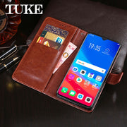 TUKE Leathe Phone Case For OPPO F9 Funda Wallet PU Leather Flip Case For OPPO F9 OPPOF9 F 9 Flip Case