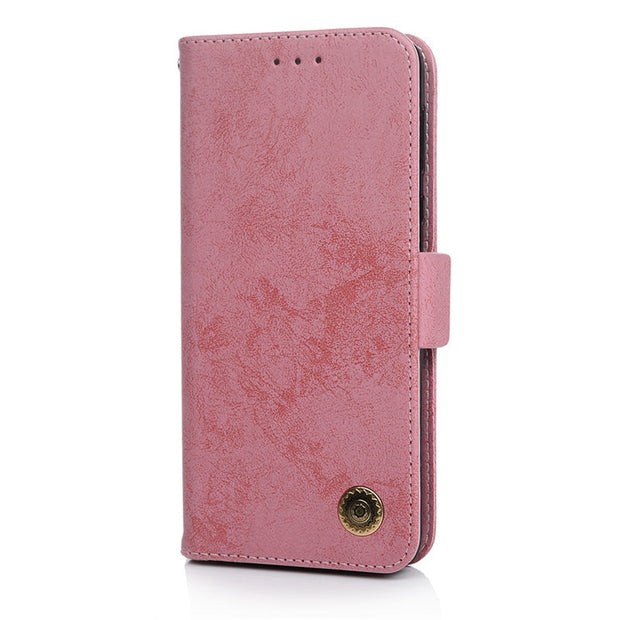 TURATA Luxury Cover Leather Flip Case For Motorola MOTO G6 Play Protective Phone Case Retro Back Cover For Motorola MOTO E5