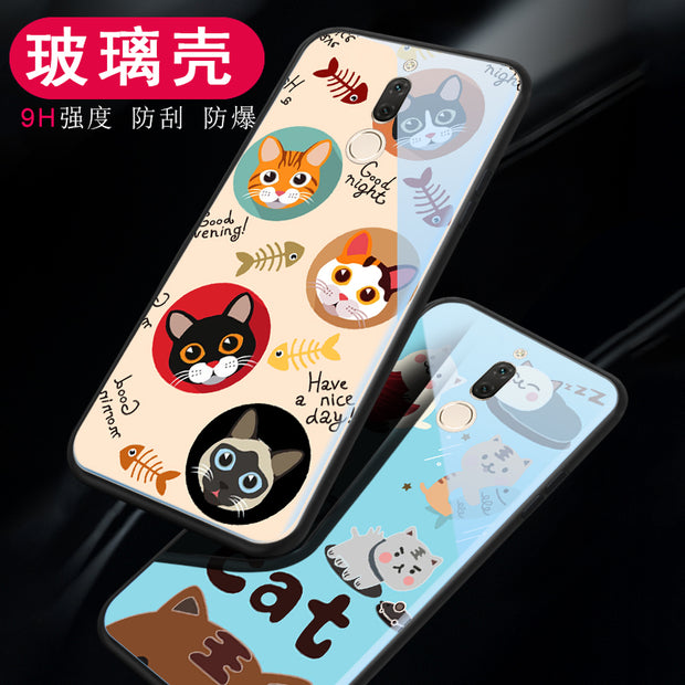 Tempered Glass Case For Huawei Nova 2i / Maimang 6 Glass Cover Bumper On The For Huawei Mate 10 Lite Case Silicone Shell
