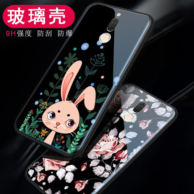 Tempered Glass Case For Huawei Nova 2i / Maimang 6 Luxury Hybrid Back Cover Shockproof Hard Housing For Huawei Mate 10 Lite