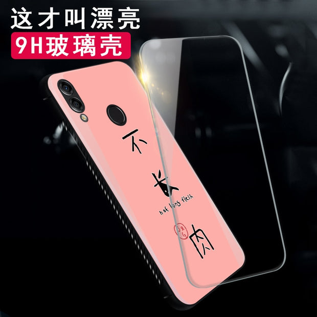 Tempered Glass Case For Huawei P10 P20 Plus Lovely Heart Back Cover Soft Silicone Bumper For Huawei P20 Pro / P20 Lite Cases