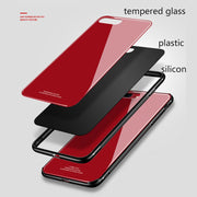 Tempered Glass Case For IPhone X 8 Plus 7 Luxury Hard Back Cover Soft TPU Bumper On The For Apple IPhone 6 S 7 8 Plus 10 X Case