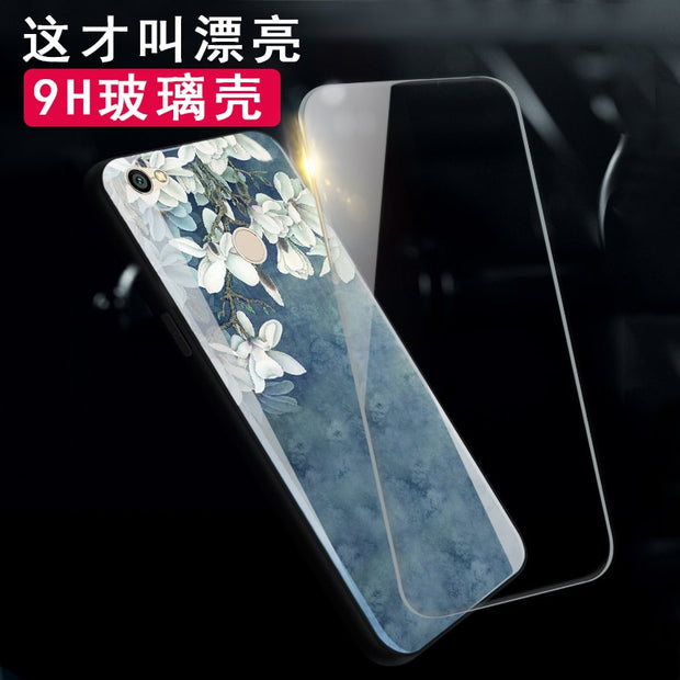 Tempered Glass Case For Xiaomi Redmi 5 / 5 Plus 5A Case For Redmi Note 5A Prime / Y1 Luxury Protective Back Cover Shockproof